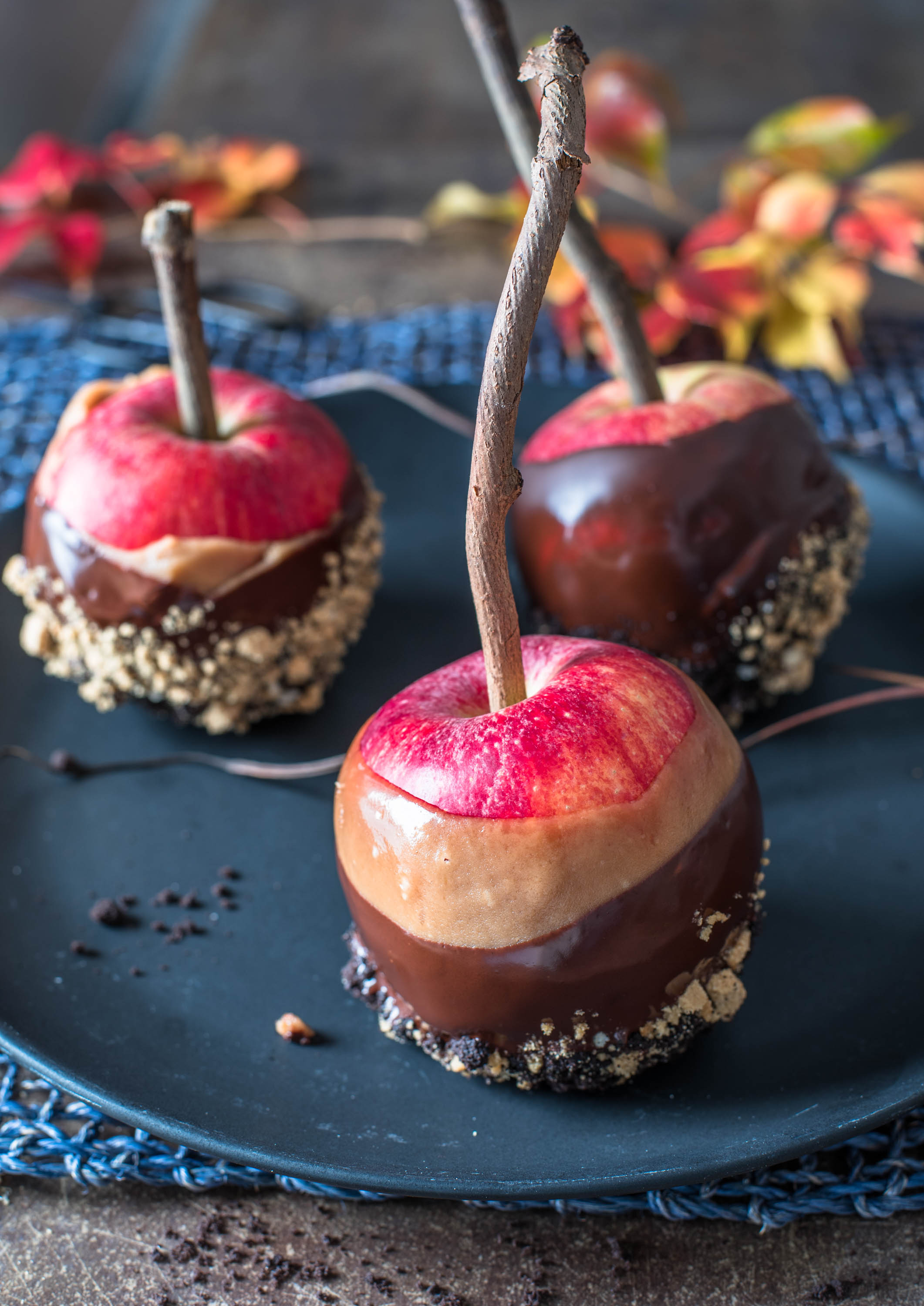 Chocolate Butterscotch Dipped Apples9