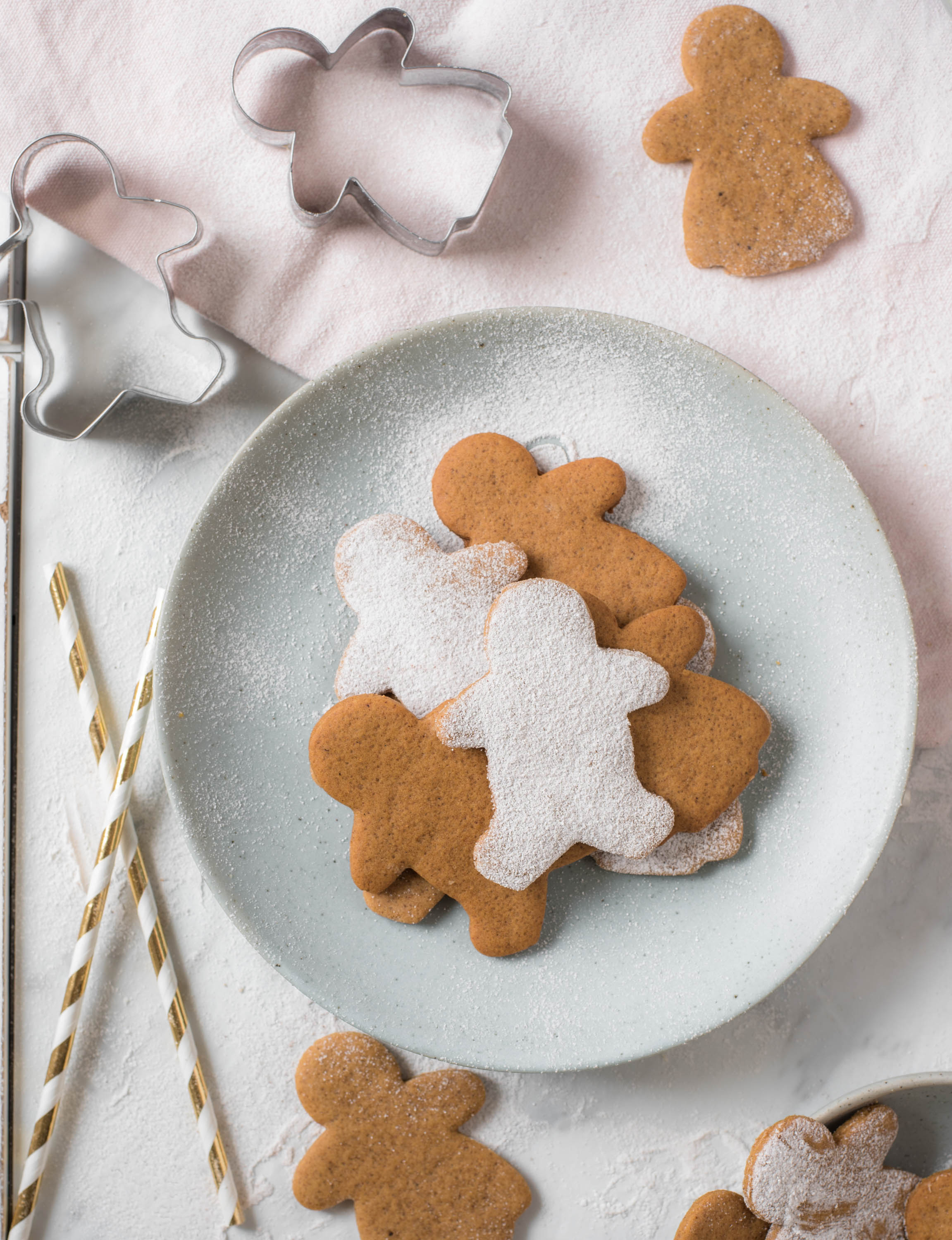 stacks of perfect gingerbread cookies