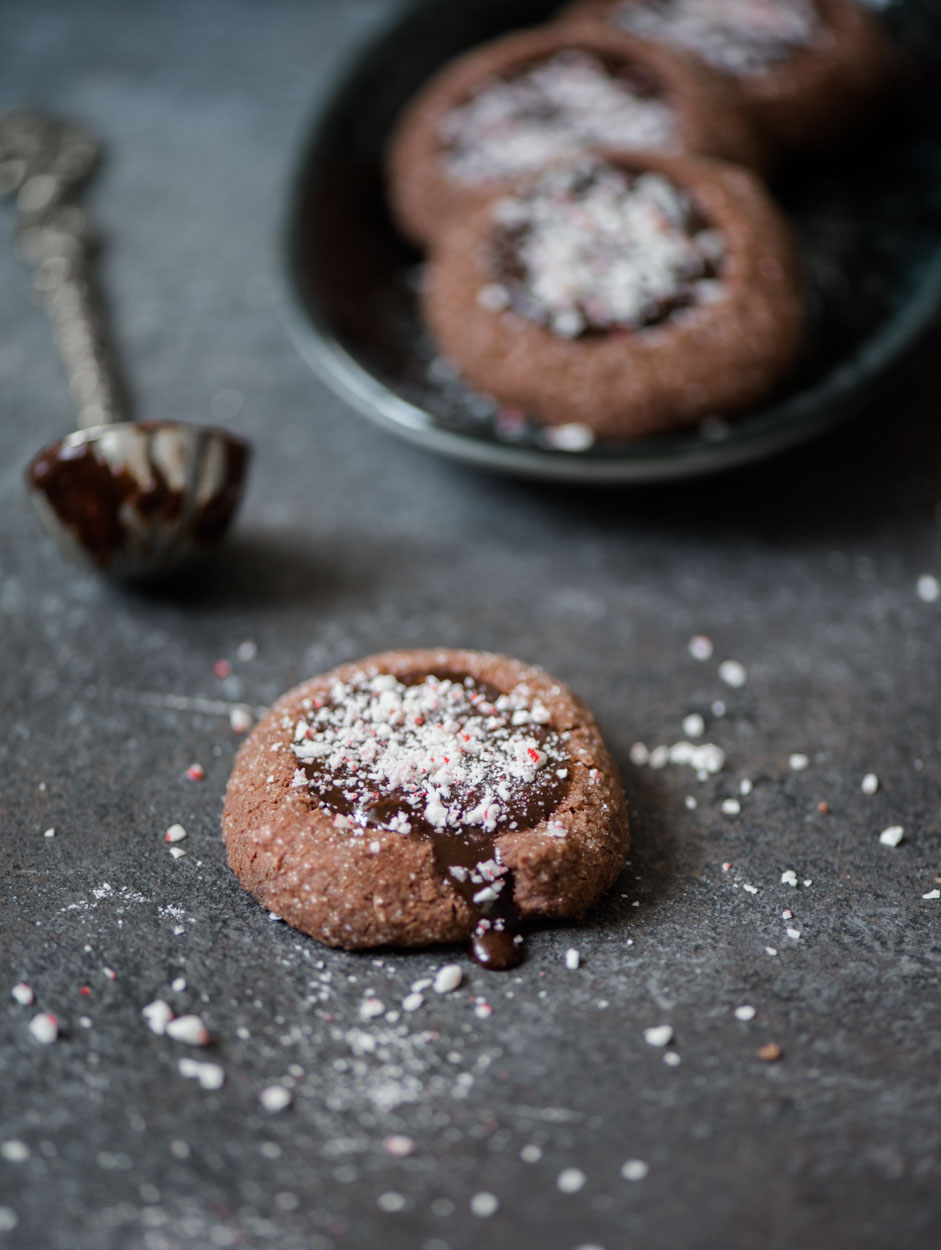 Chocolate Peppermint Thumbprint Cookies No Dairy No Cry