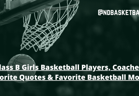 Class B Girls Basketball Players, Coaches: Favorite Quotes and Favorite Basketball Movie