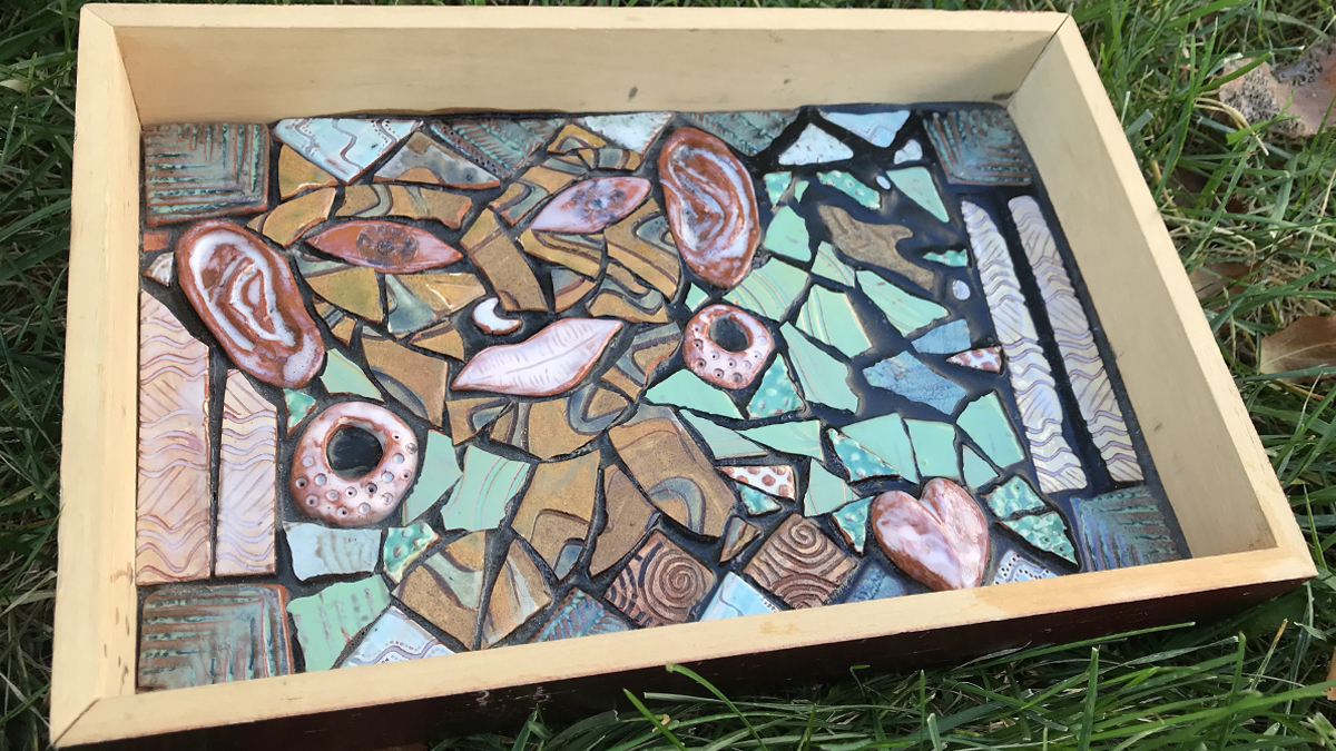 Ceramic Tiles Mosaic Shadowbox Sampler