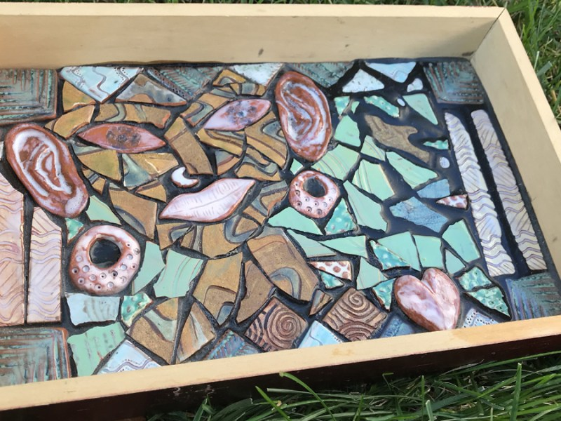 Ceramic Tiles Mosaic Shadowbox Sampler