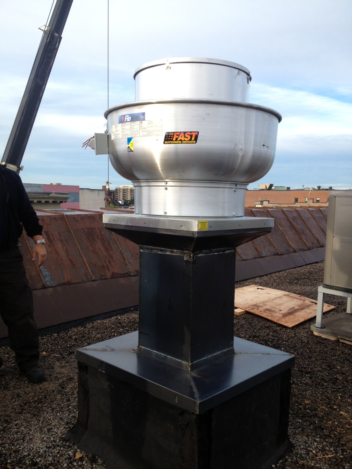 kitchen ventilation system portable island with drop leaf noddle sheet metal and mechanical
