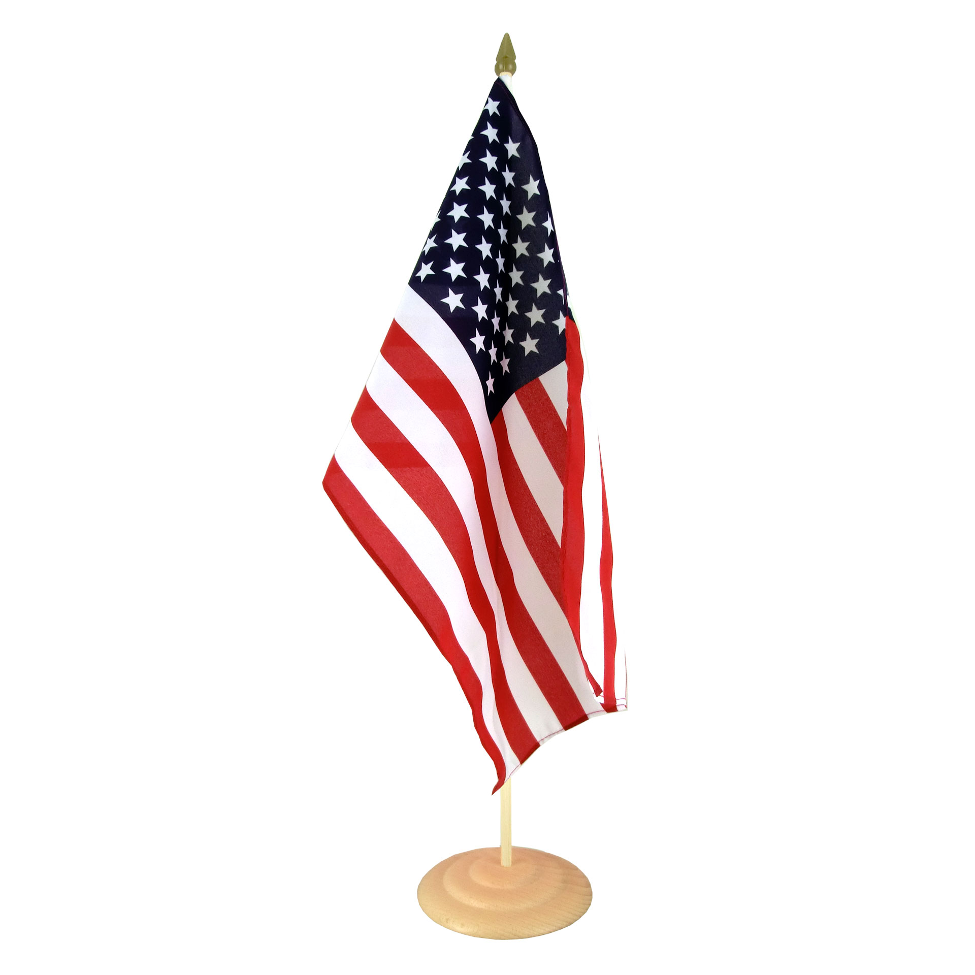 Large Table Flag USA  12x18 wooden  RoyalFlags