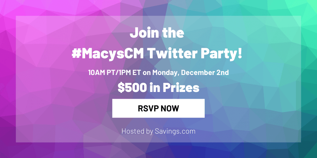 Join the Macy's Cyber Monday Twitter party!