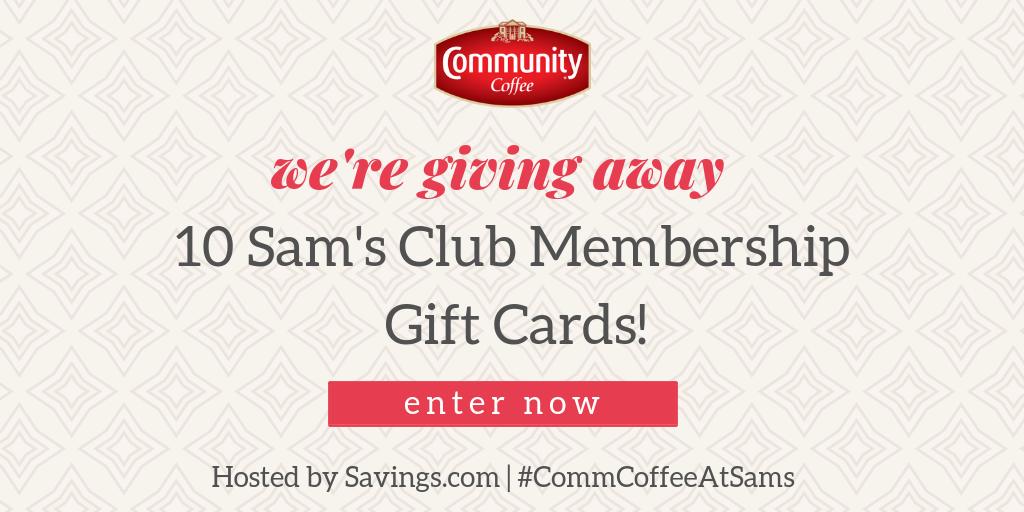 Win a Sam's Club Gift of Membership Gift Card!