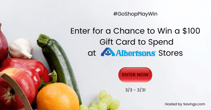 Win a $100 gift card to spend at Albertsons Companies stores!