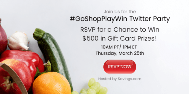 Join the #GoShopPlayWin Twitter party!