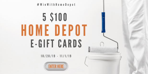 Win a $100 Home Depot Gift Card!