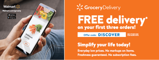 Get your first three deliveries free!