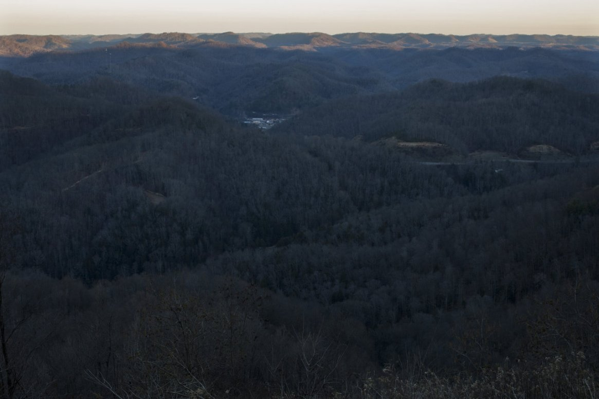 A view of Letcher County from the top of Pine Mountain