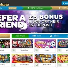 mFortune Mobile Casino homepage