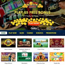 CoinFalls Casino - Homepage