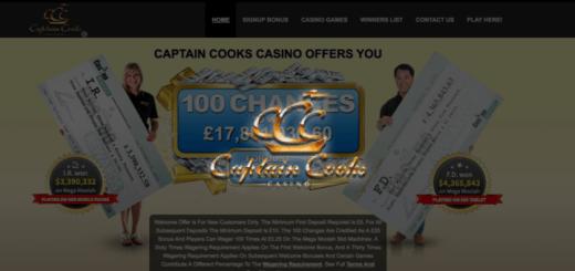 captain cook casino mega moolah