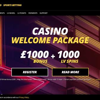 LVBet Casino - Homepage