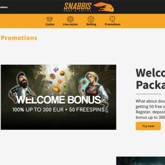 Snabbis Casino Homepage