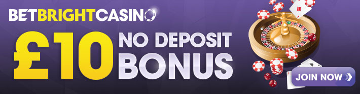 BetBright casino no deposit banner