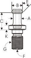 BT-30 Fanuc RoboDrill Retention Knobs