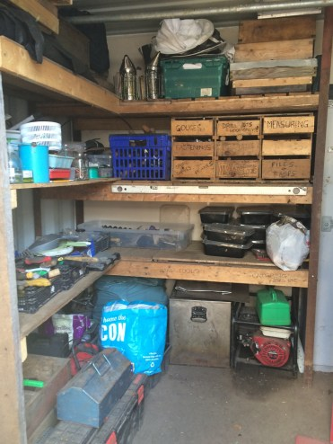 inside the tool shed
