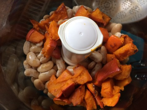 beans and squash in the blender
