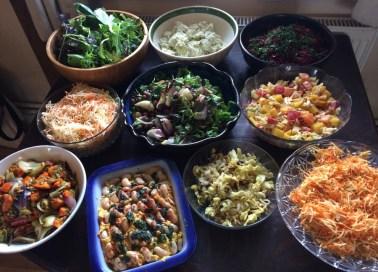 Seasonal salads, February