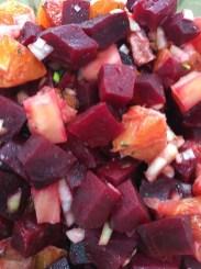 roasted beetroot and orange salad