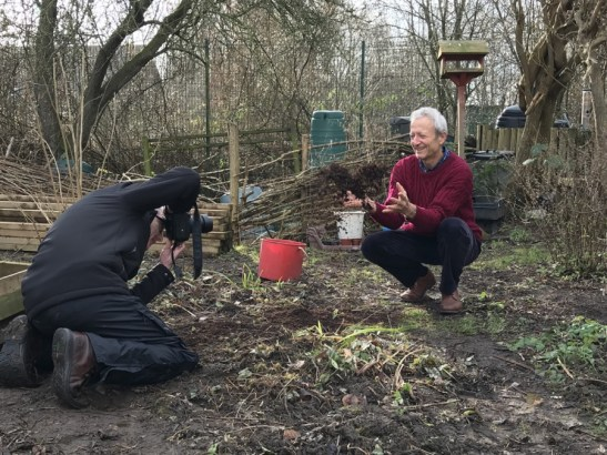 Charles being photographed for York local press