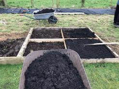 adding municipal waste compost on top of manure base