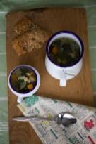 kale and czar bean soup