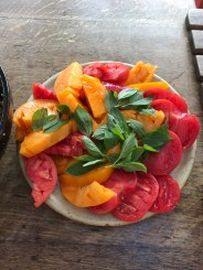 beef tomatoes and basil