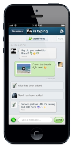 KEEK PRIVATE MESSAGES FEATURE