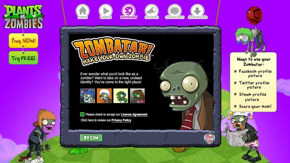 Zombatar, crea tu propio zombi
