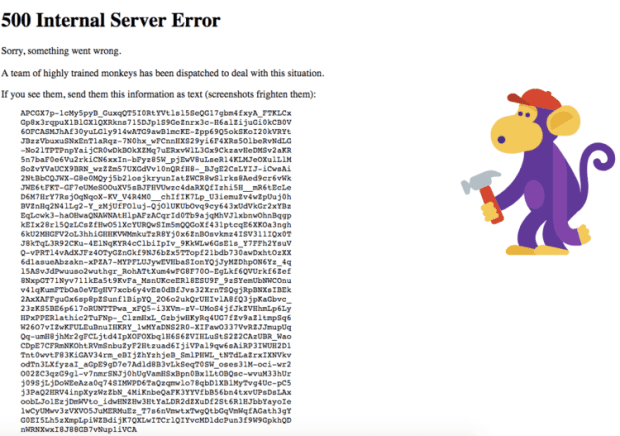 error 500 Youtube
