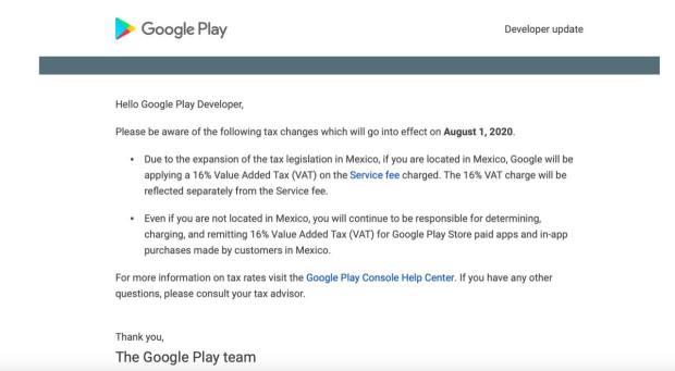 impuestos google