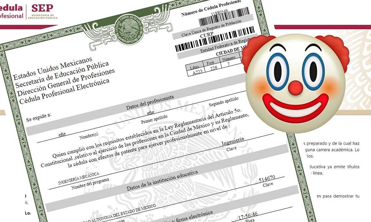 cédulas fraudulentas de la SEP