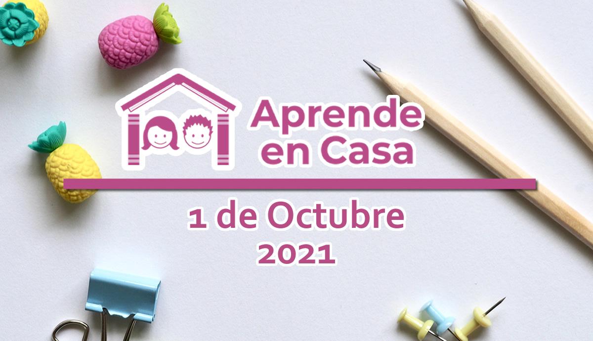1 de octubre aprende en casa