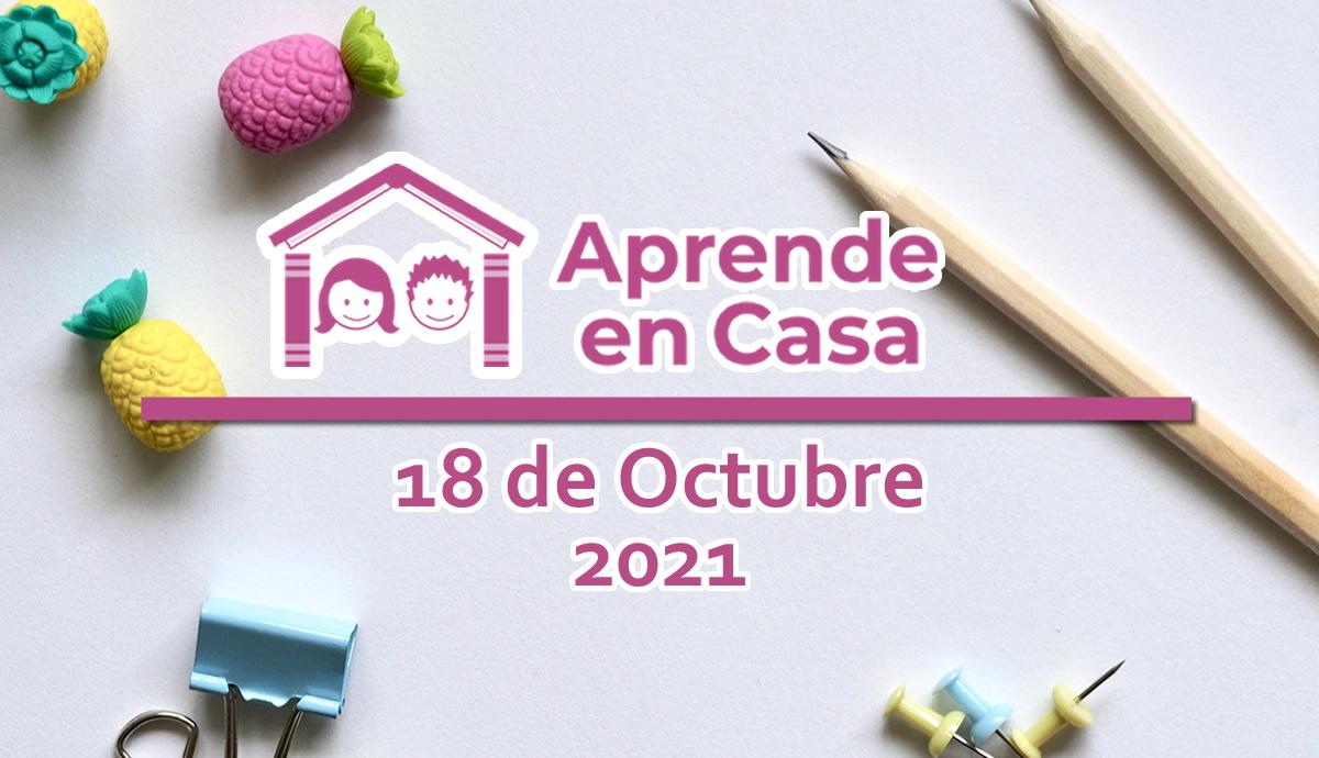 18 de octubre aprende en casa