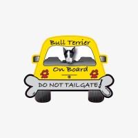 Bull Terrier On Board Car Magnet