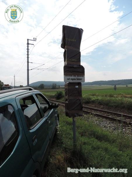 Radweg-Hinweistafeln in Hainburg | Foto: Berg-und-Naturwacht.org