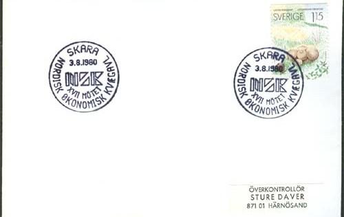 Før kongressen i Skara 1980 blev der udarbejdet et poststempel
