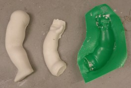 Arm and leg casts with mould