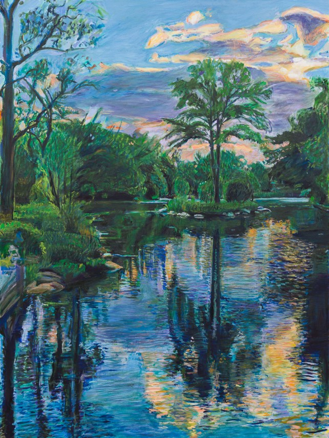 Oil painting of Prospect Park by Noel Hefele