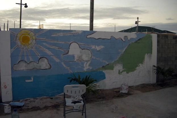 Beginning of mural Barbuda