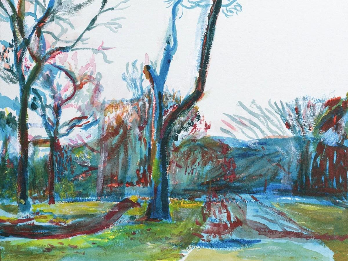 Prospect Park Landscape painting by Noel Hefele