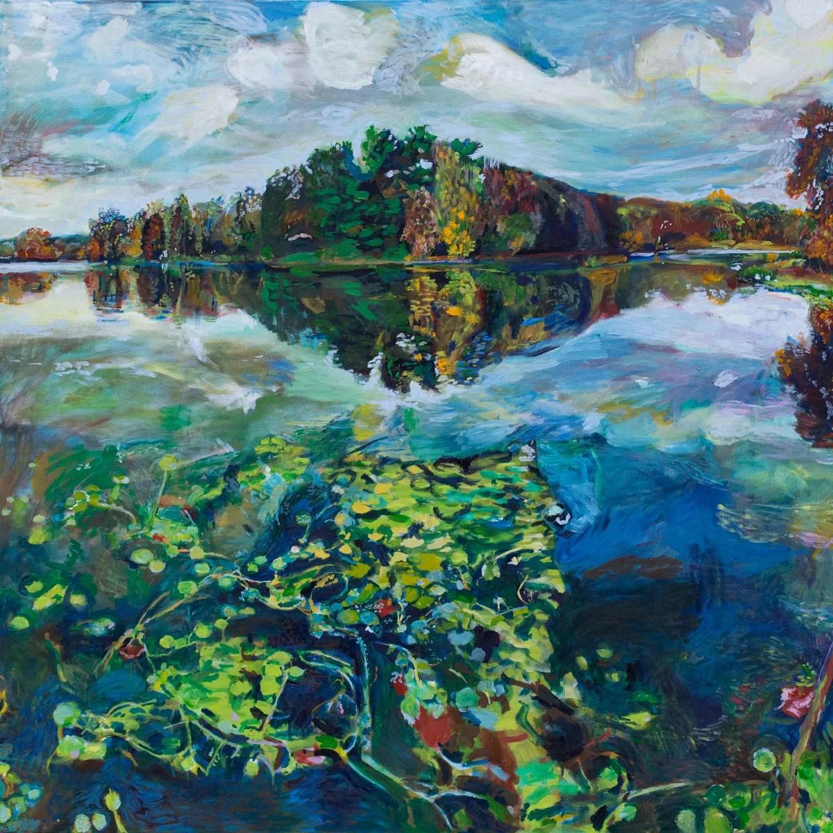 Painting of prospect park by Noel Hefele
