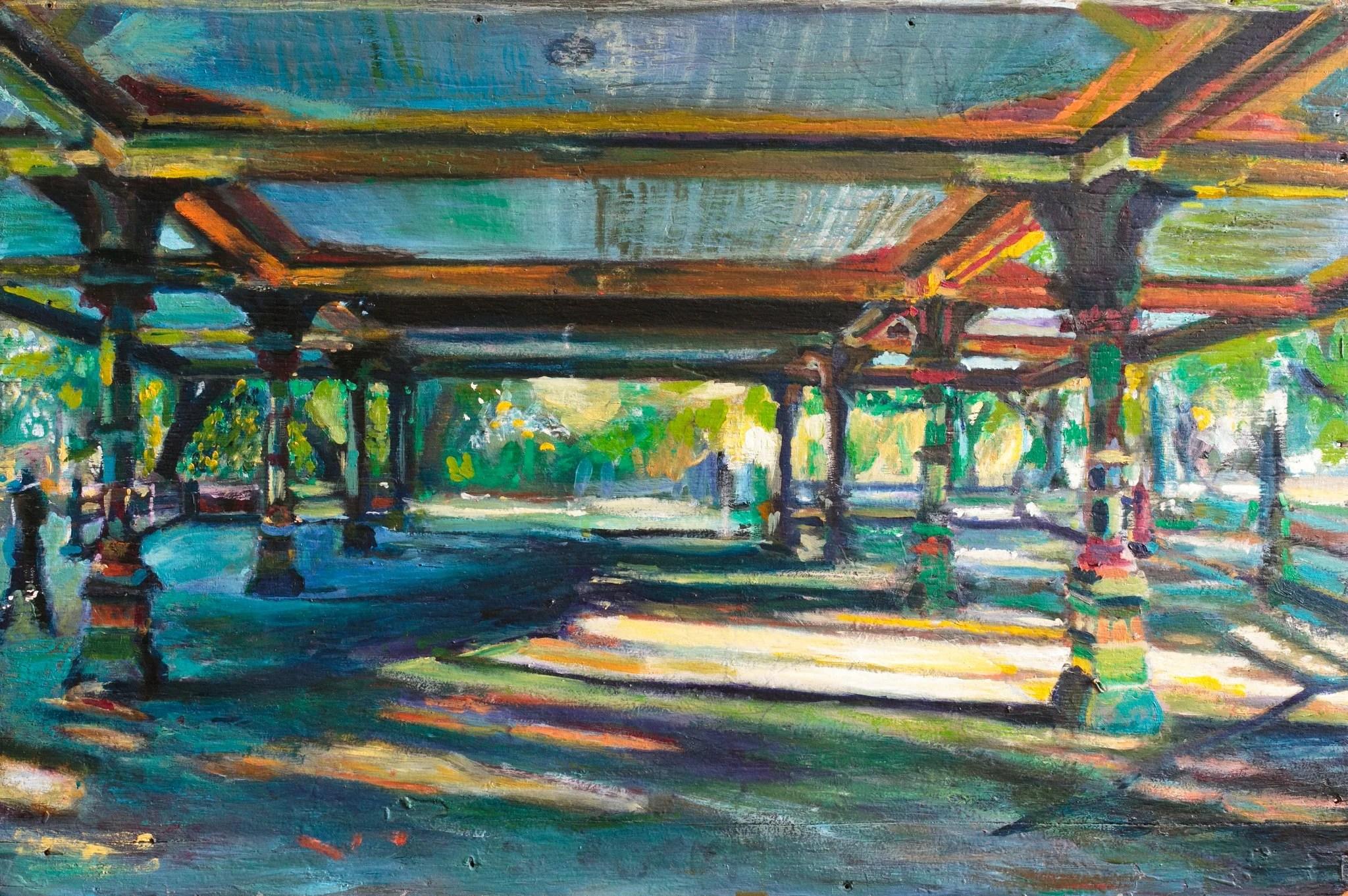 Prospect Park Pavillion painting by Noel Hefele