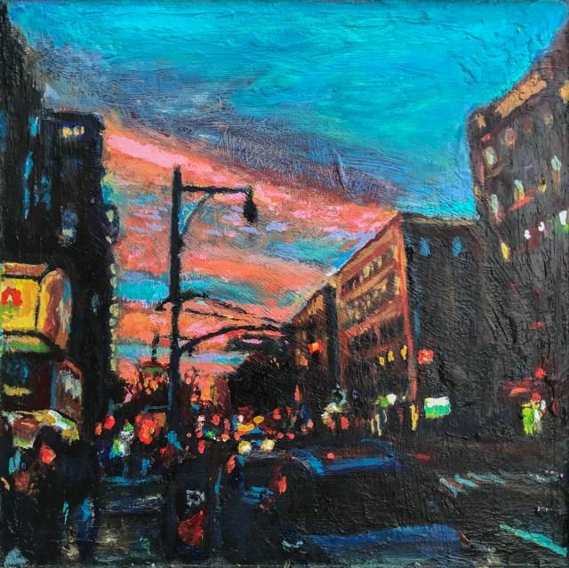 Flatbush and Beekman Oil Painting by Noel Hefele