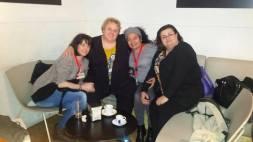 Con Virginia, Patricia y Celeste