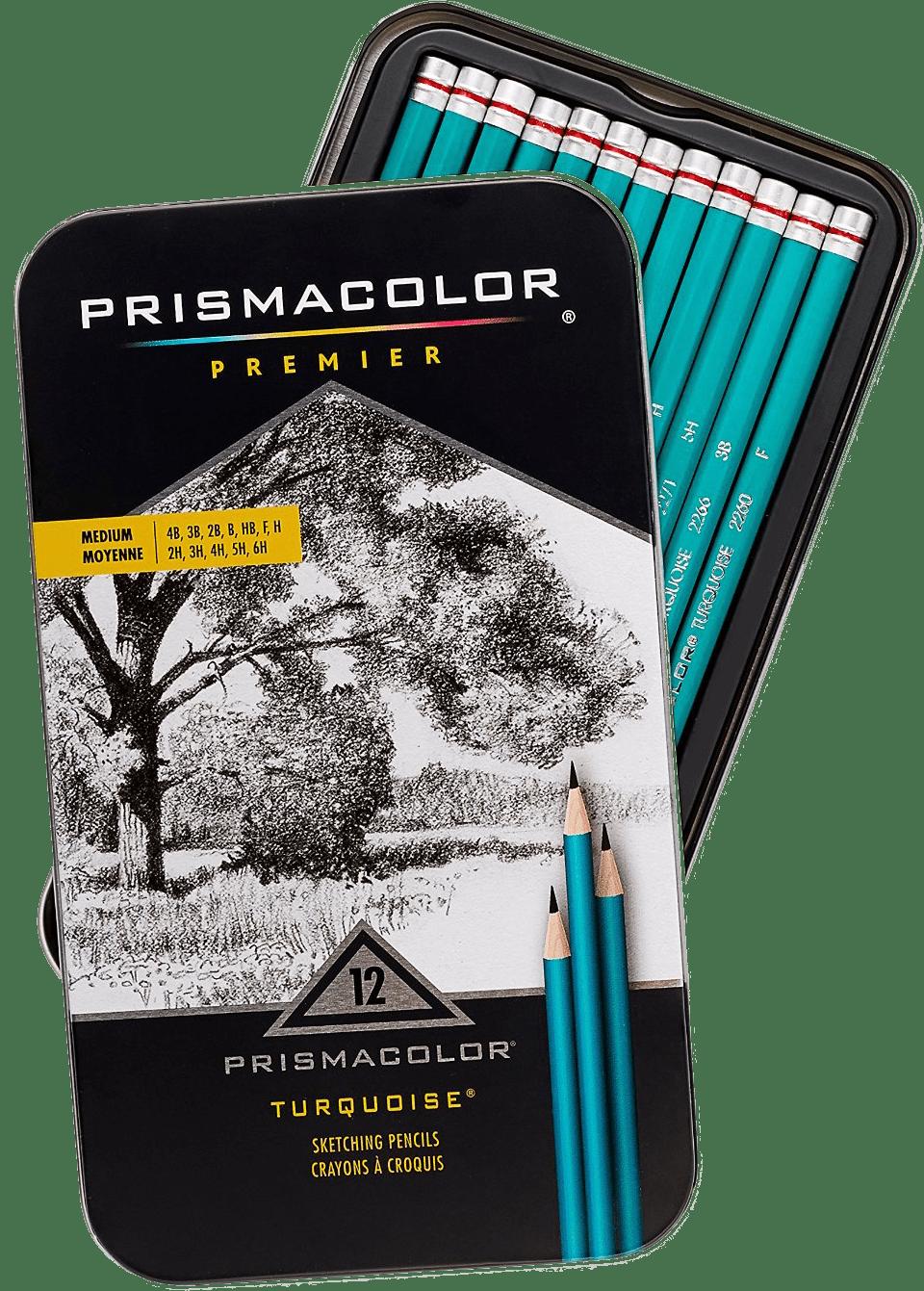 Prismacolor Premier Medium Turquoise Sketching Pencils
