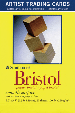 Strathmore Bristol Smooth Surface Artist Trading Cards, 2.5x3.5 Inch, 20-Pack